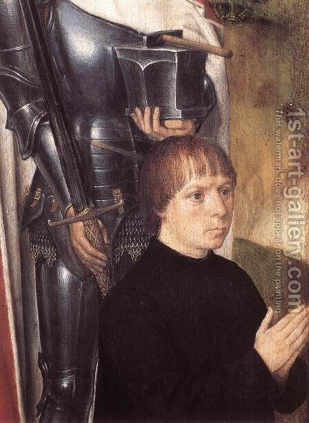 Triptych of Adriaan Reins (detail) by Hans Memling - Reproduction Oil Painting