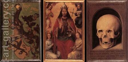 Triptych of Earthly Vanity and Divine Salvation (rear) by Hans Memling - Reproduction Oil Painting