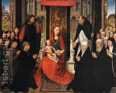 Virgin and Child with Sts James and Dominic by Hans Memling - Reproduction Oil Painting