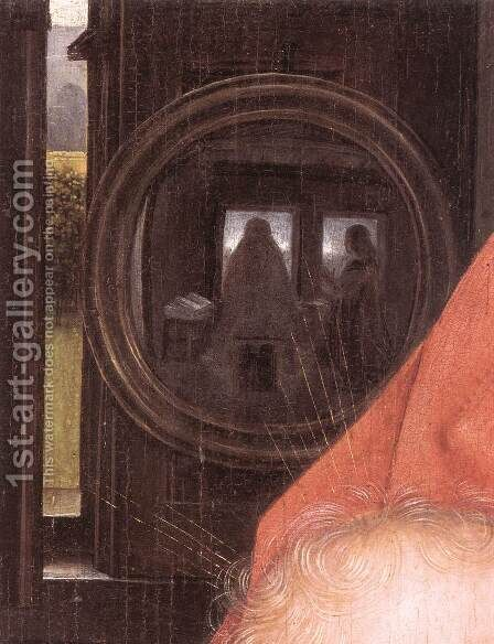 Diptych of Maarten Nieuwenhove (detail) by Hans Memling - Reproduction Oil Painting