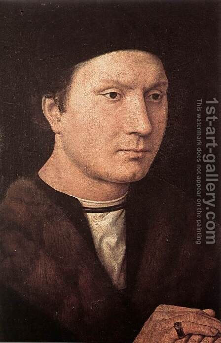 Portrait of a Man 2 by Hans Memling - Reproduction Oil Painting