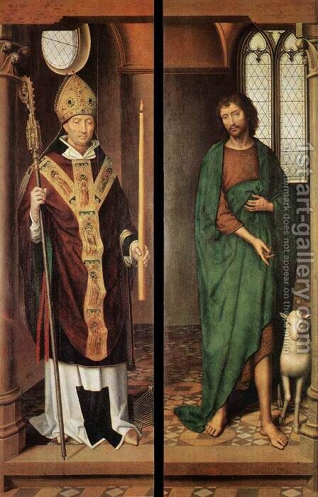 Passion (Greverade) Altarpiece (first closed position) 2 by Hans Memling - Reproduction Oil Painting