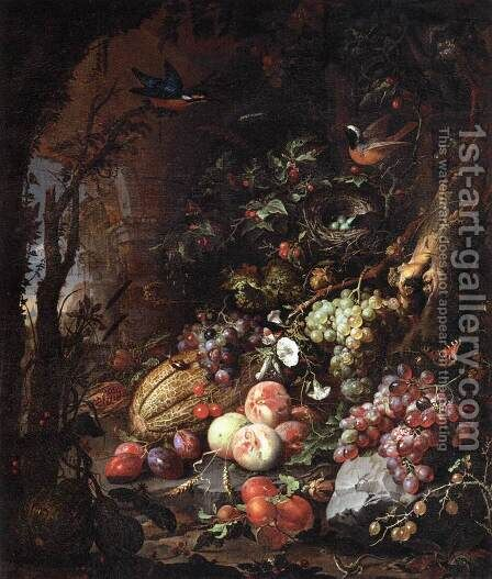 Still-Life 2 by Abraham Mignon - Reproduction Oil Painting