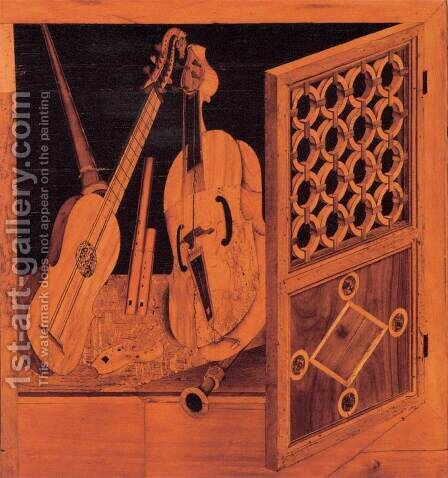Musical instruments 2 by Antonio and Paolo Mola - Reproduction Oil Painting