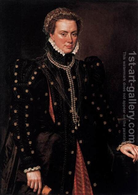 Margaret, Duchess of Parma by Anthonis Mor Van Dashorst - Reproduction Oil Painting