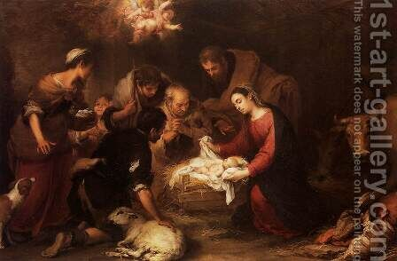 Adoration of the Shepherds 2 by Bartolome Esteban Murillo - Reproduction Oil Painting