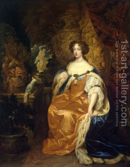 Portrait of Mary Stuart II by Caspar Netscher - Reproduction Oil Painting