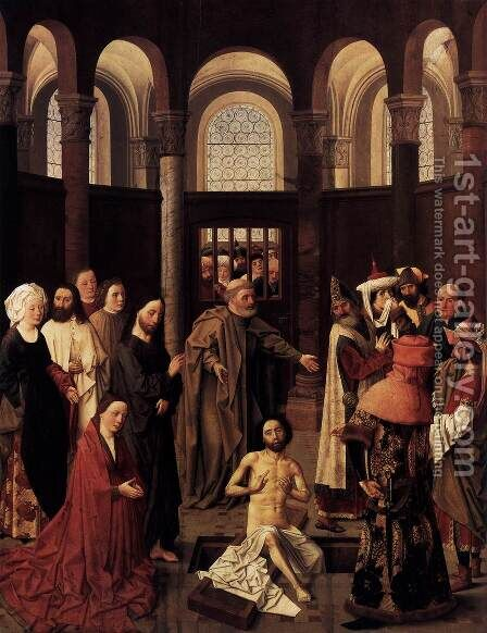 The Raising of Lazarus by Aelbert van Ouwater - Reproduction Oil Painting