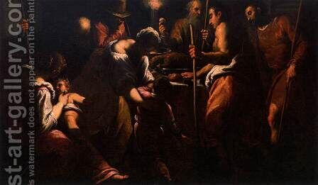 Passover by Jacopo d'Antonio Negretti (see Palma Giovane) - Reproduction Oil Painting