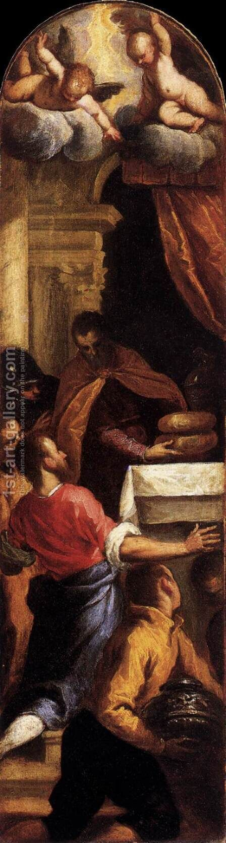 David and Achimelech by Jacopo d'Antonio Negretti (see Palma Giovane) - Reproduction Oil Painting