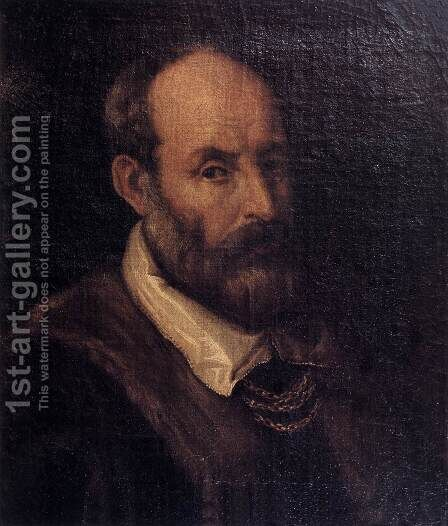 Paolo Veronese by Jacopo d'Antonio Negretti (see Palma Giovane) - Reproduction Oil Painting