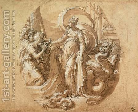 Circe and the Companions of Ulysses by Girolamo Francesco Maria Mazzola (Parmigianino) - Reproduction Oil Painting