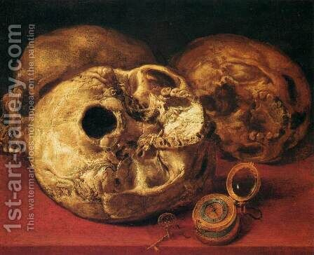 Vanitas by Antonio de Pereda - Reproduction Oil Painting