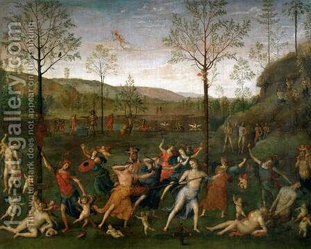 Combat of Love and Chastity by Alvaro Di Pietro (Pirez D'Évora) - Reproduction Oil Painting