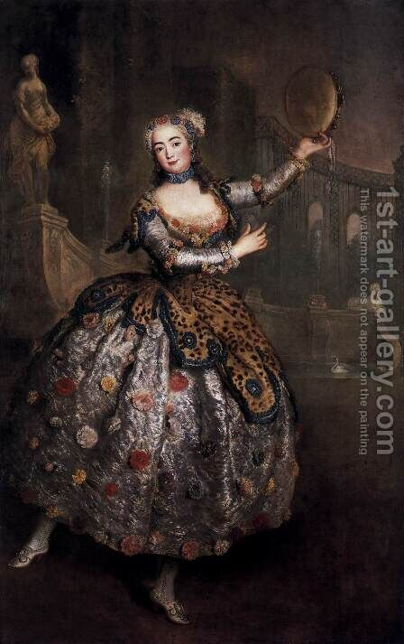 The Dancer Barbara Campanini by Antoine Pesne - Reproduction Oil Painting