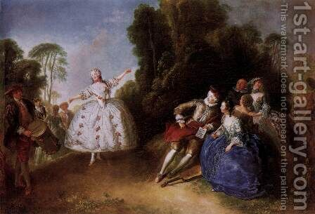 Marianne Cochois by Antoine Pesne - Reproduction Oil Painting