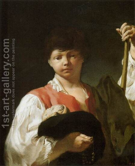 Beggar Boy by Giovanni Battista Piazzetta - Reproduction Oil Painting