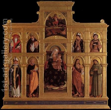 Polyptych 2 by Alemanno Pietro - Reproduction Oil Painting