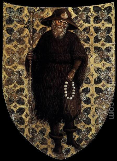 Pellegrini Family Coat-of-Arms by Antonio Pisano (Pisanello) - Reproduction Oil Painting