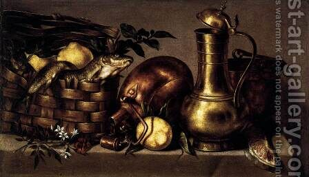 Still-Life in the Kitchen by Antonio Ponce - Reproduction Oil Painting