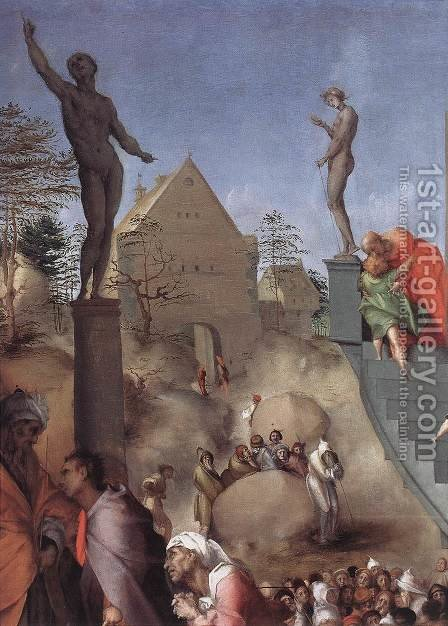 Joseph in Egypt (detail) by (Jacopo Carucci) Pontormo - Reproduction Oil Painting