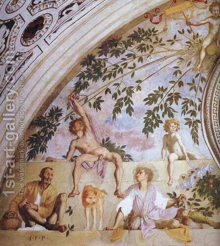 Vertumnus and Pomona (detail) by (Jacopo Carucci) Pontormo - Reproduction Oil Painting