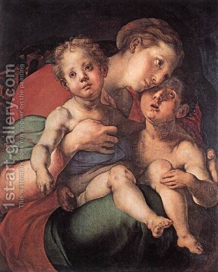 Madonna and Child with the Young St John by (Jacopo Carucci) Pontormo - Reproduction Oil Painting