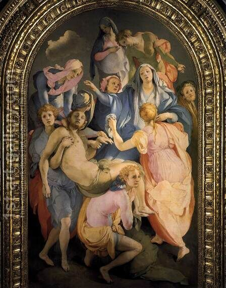 Deposition 2 by (Jacopo Carucci) Pontormo - Reproduction Oil Painting