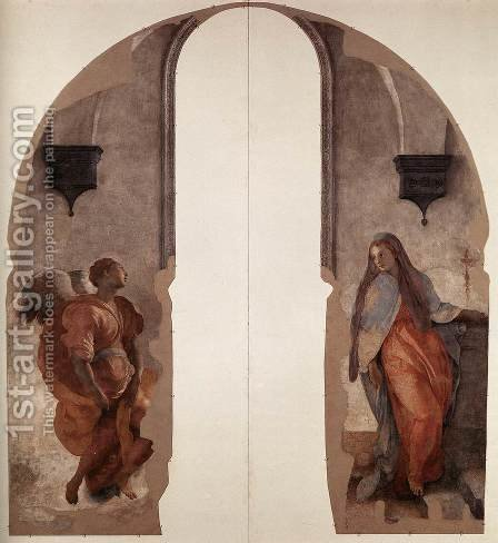 Annunciation by (Jacopo Carucci) Pontormo - Reproduction Oil Painting