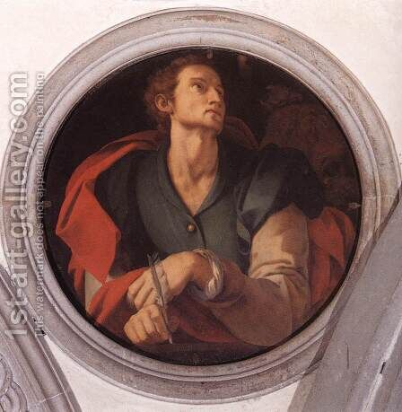 St Luke by (Jacopo Carucci) Pontormo - Reproduction Oil Painting