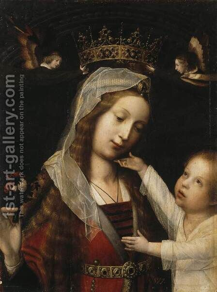 Virgin and Child 2 by Jan Provost - Reproduction Oil Painting