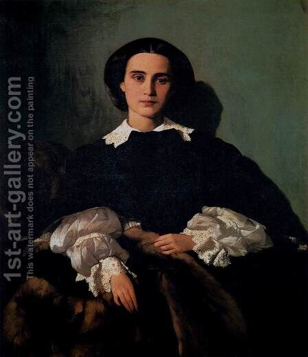 Portrait of the Noblewoman Marrocchi by Antonio Puccinelli - Reproduction Oil Painting