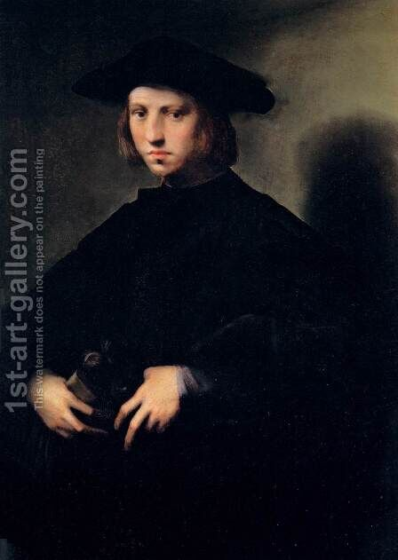 Portrait of a Boy by Domenico Puligo - Reproduction Oil Painting