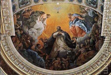 The Glory of St Dominic 2 by Guido Reni - Reproduction Oil Painting