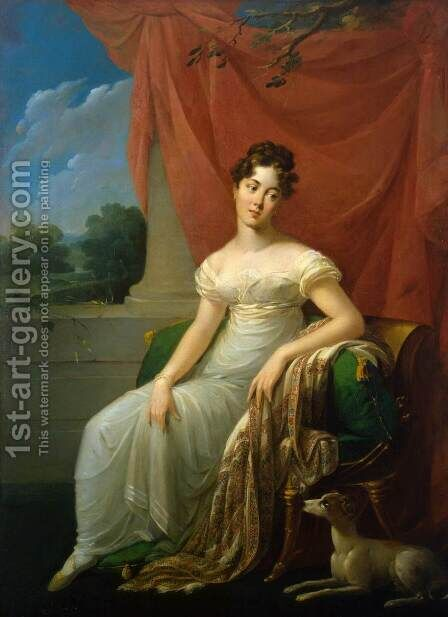 Portrait of Sofia Apraxina by Henri-Francois Riesener - Reproduction Oil Painting
