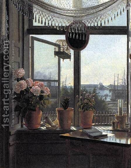 View from the Artist's Window by Martinus Rørbye - Reproduction Oil Painting