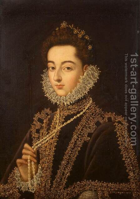 Portrait of the Infanta Catalina Micaela by Alonso Sanchez Coello - Reproduction Oil Painting