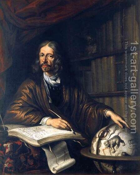 Johannes Hevelius, Astronomer by Daniel Schultz - Reproduction Oil Painting