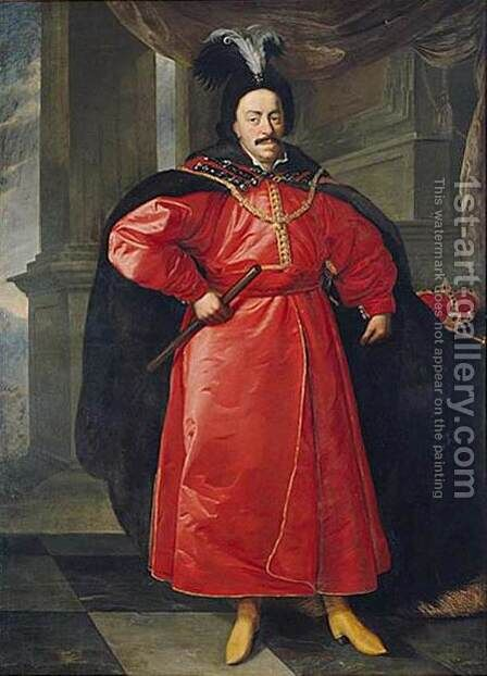 King John Casimir II in Polish Costume by Daniel Schultz - Reproduction Oil Painting