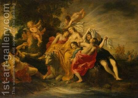 Rape of Europa by Cornelius I Schut - Reproduction Oil Painting