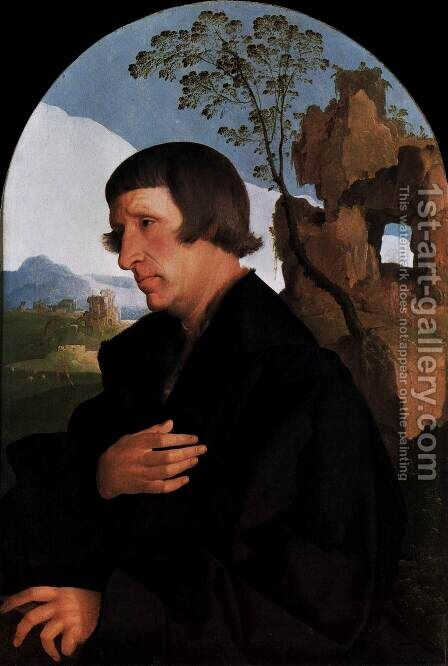 Portrait of a Man by Jan Van Scorel - Reproduction Oil Painting