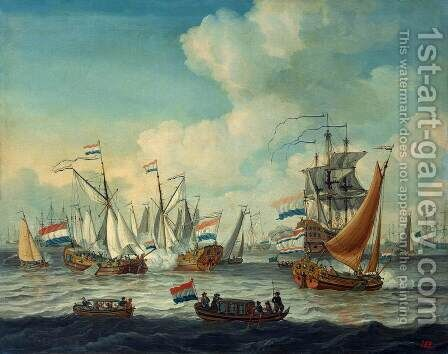 Fleet Manoeuvres by Adam Silo - Reproduction Oil Painting