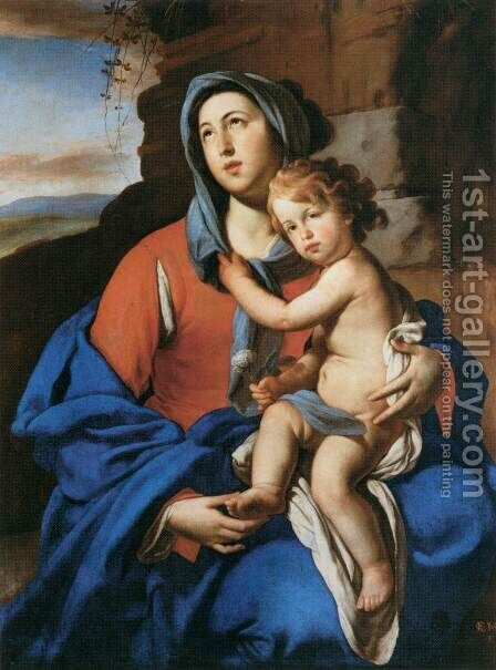 Virgin and Child by Massimo Stanzione - Reproduction Oil Painting