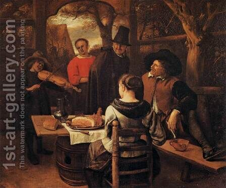 The Meal by Jan Steen - Reproduction Oil Painting