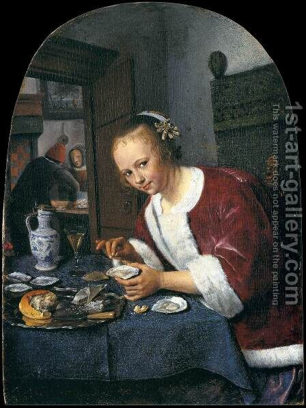The Oyster-eater by Jan Steen - Reproduction Oil Painting