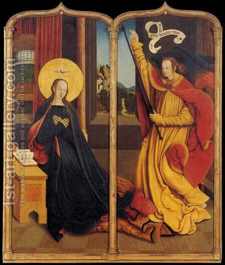 The Annunciation by Bernhard Strigel - Reproduction Oil Painting