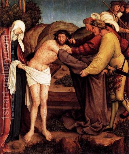 Disrobing of Christ by Bernhard Strigel - Reproduction Oil Painting