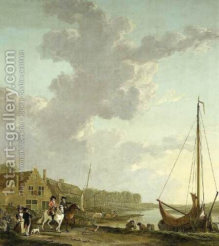 An Extensive River Landscape 2 by Abraham van, I Strij - Reproduction Oil Painting