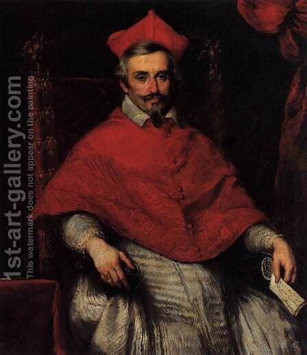 Portrait of Cardinal Federico Cornaro 2 by Bernardo Strozzi - Reproduction Oil Painting