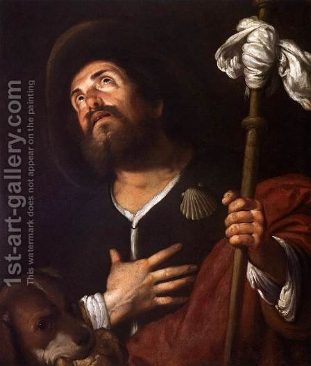 St Roch 2 by Bernardo Strozzi - Reproduction Oil Painting